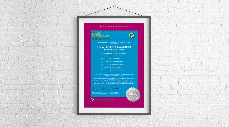 Eco Certificate 2019